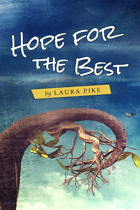 Best Illustrated Book Covers : Hope for the best illustrated pre made book cover sale