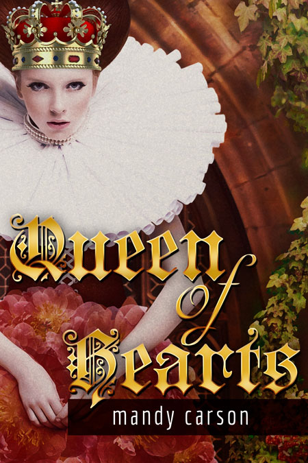 Cool Book Cover Queen : Queen of hearts fantasy pre made book cover for sale