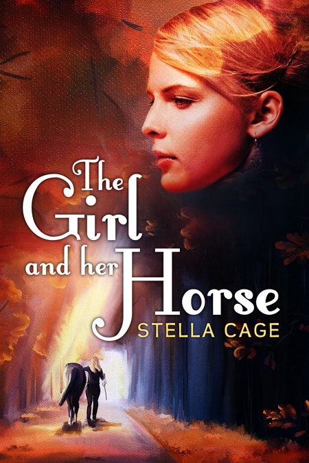 Illustrated Premade Book Covers : The girl and her horse illustrated pre made book