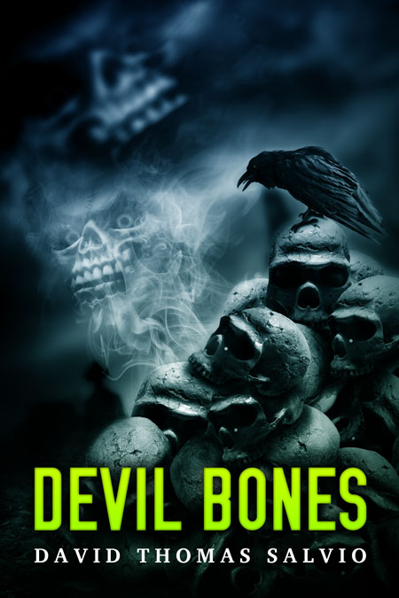 devil bones horror pre made book cover for sale