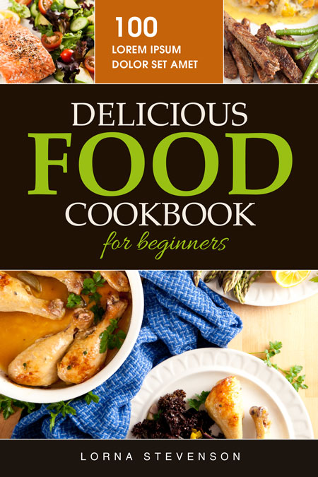 Food Book Cover Queensland : Delicious food cookbook pre made book cover for