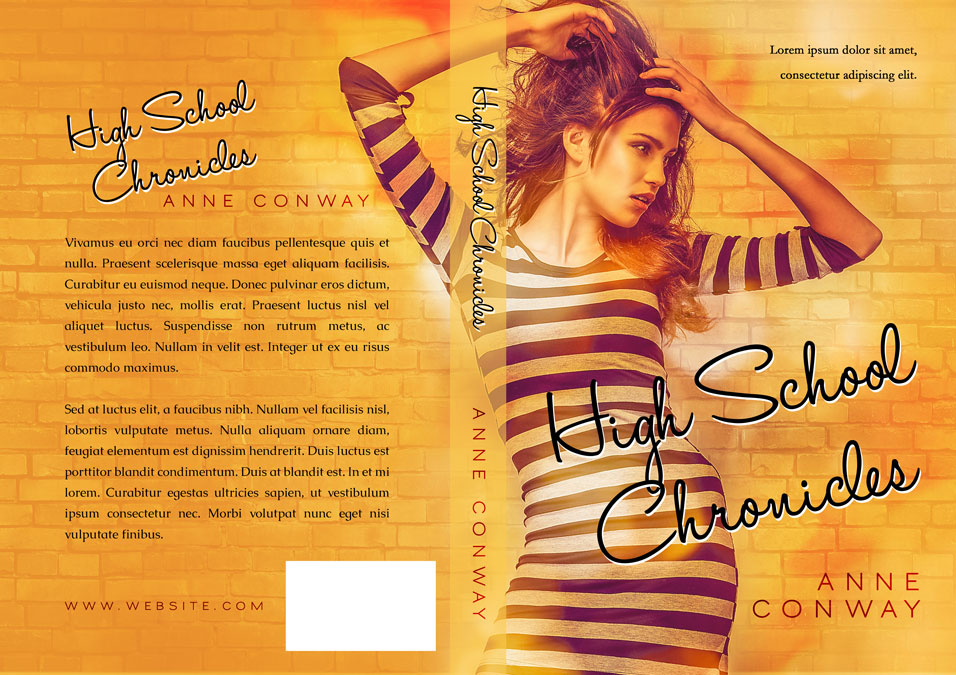 High School Book Cover : High school chronicles young adult pre made book cover