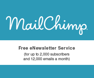 MailChimp. Free eNewsletter Seriver (for up to 2,000 subscribers and 12,000 emails a month)