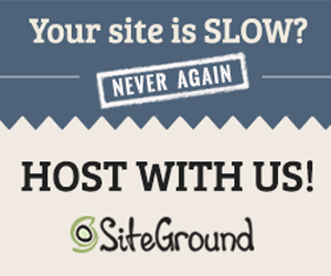Your site is SLOW? Never Again! Host with us! SiteGround