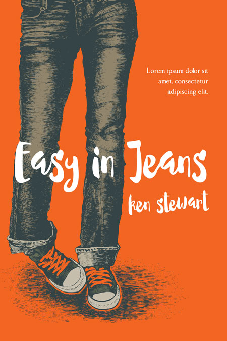 Book Cover Black Jeans : Easy in jeans young adult illustrated book cover for sale