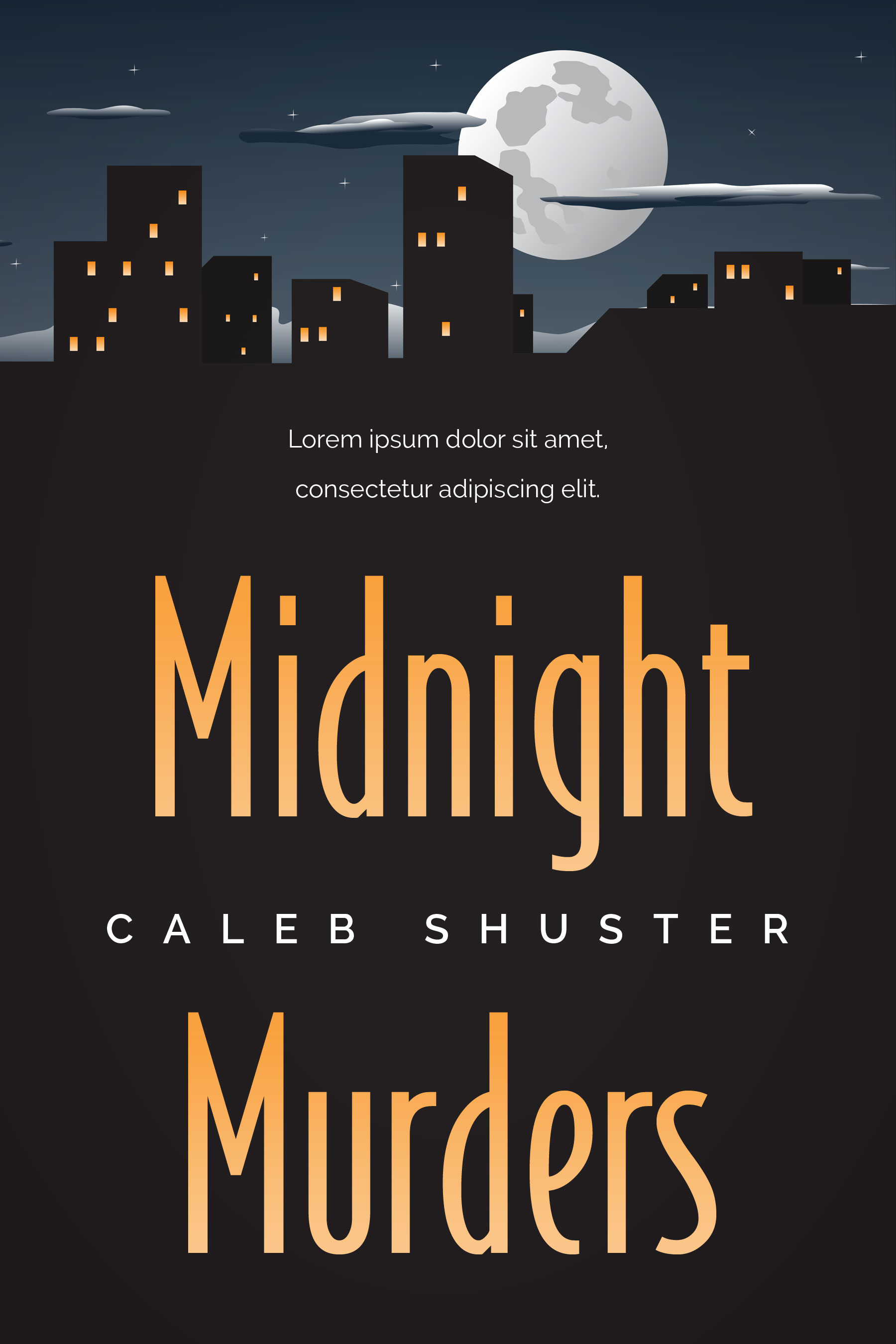 Mystery Book Cover Design : Midnight murders cozy mystery book cover for sale