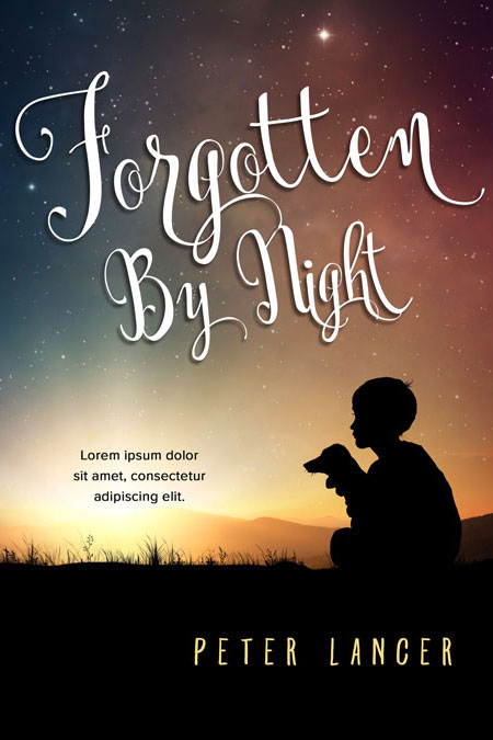 Illustrated Premade Book Covers : Forgotten by night middle grade premade book cover for sale