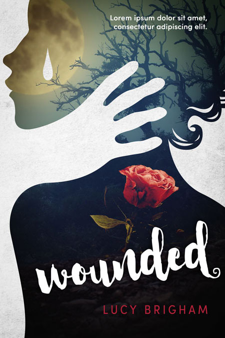 Mystery Book Cover Design : Wounded fantasy mystery premade book cover for sale