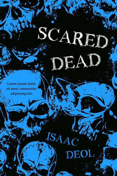 Illustrated Premade Book Covers : Scared dead horror premade book cover for sale beetiful