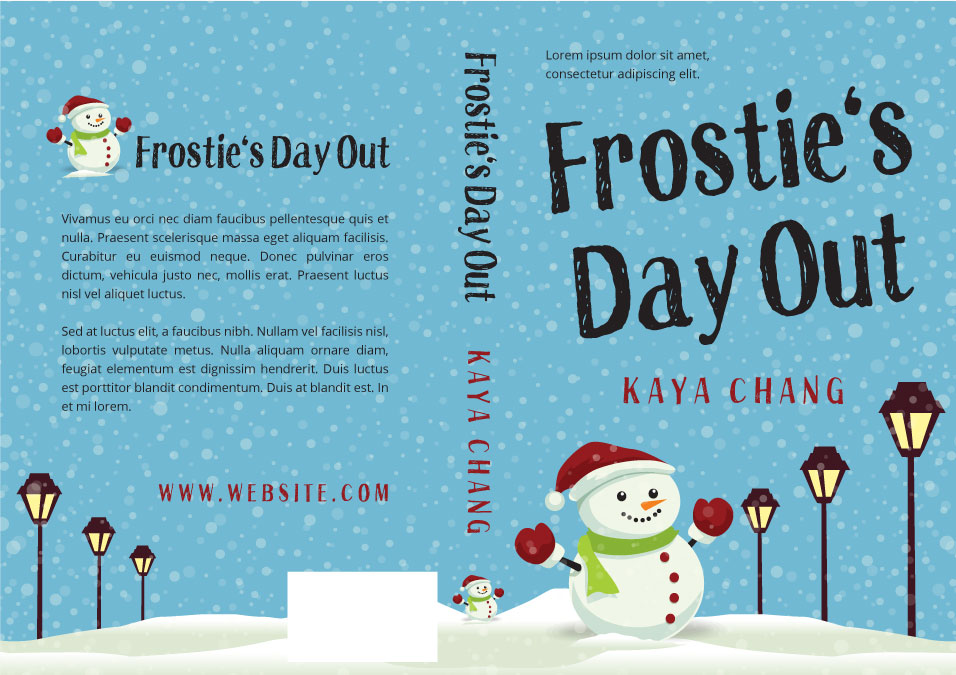Illustrated Premade Book Covers : Frostie s day out middle grade christmas premade book