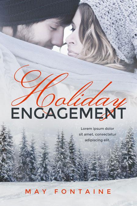 Christmas Romance Book Covers : Holiday engagement christmas romance premade book cover