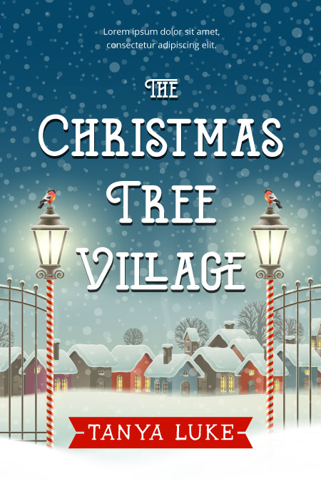 Christmas Romance Book Covers ~ The christmas tree village premade book cover