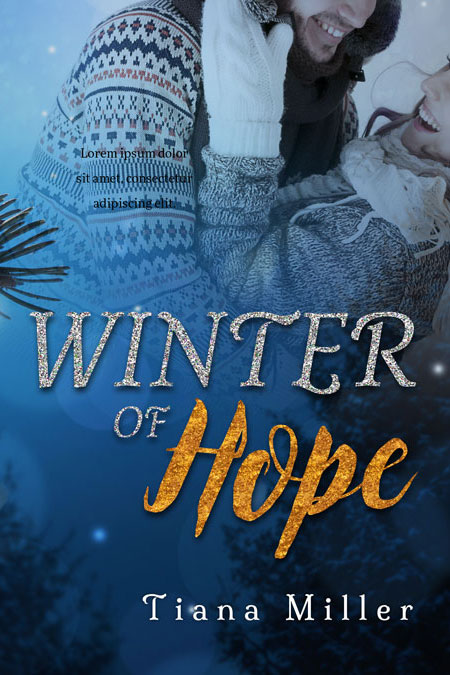 Romance Book Covers For Sale : Winter of hope romance premade book cover for