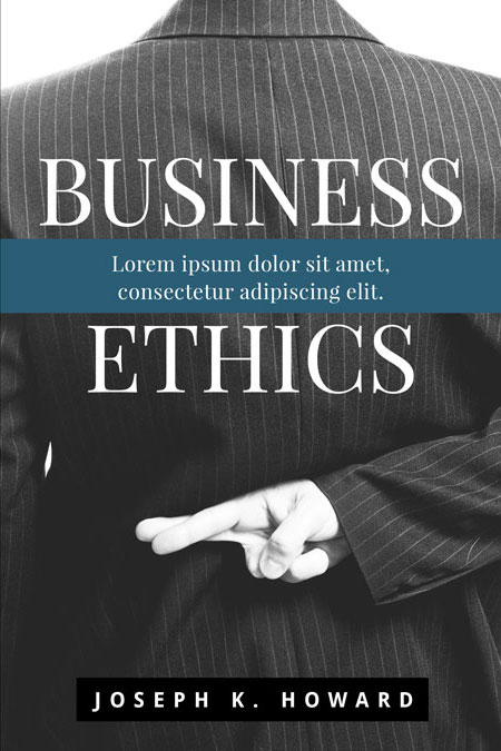 Business Book Cover Job ~ Business ethics pre made book cover for sale