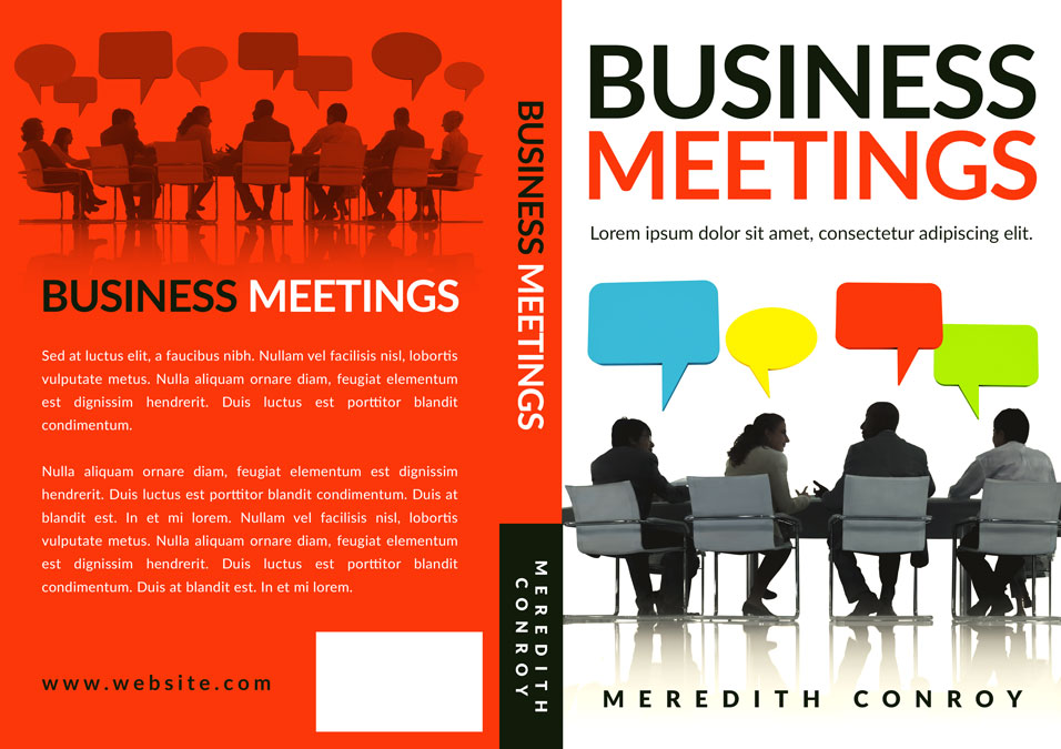 Business Book Covers : Business meetings non fiction pre made book cover for