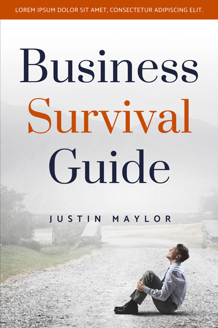 Business Book Cover Questions : Business survival guide pre made book cover for