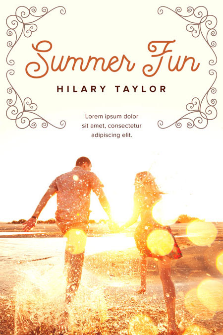 Romance Book Covers For Sale : Summer fun romance pre made book cover for sale