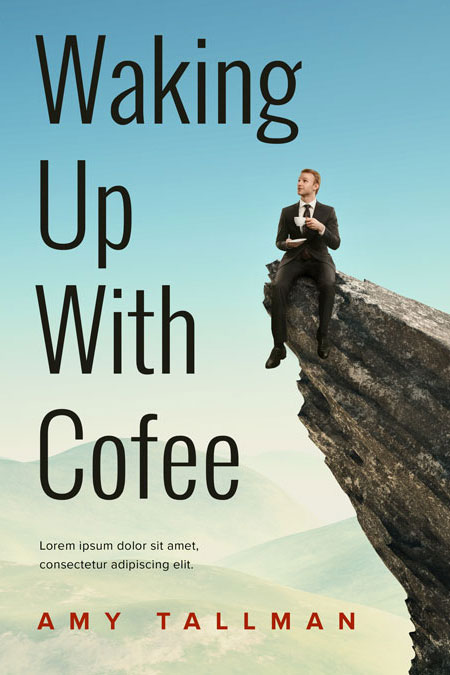 Business Book Cover Up : Waking up with coffee business pre made book cover for