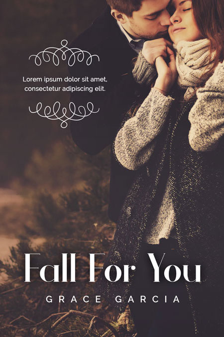 Romance Book Cover Stock : Fall for you romance pre made book cover sale