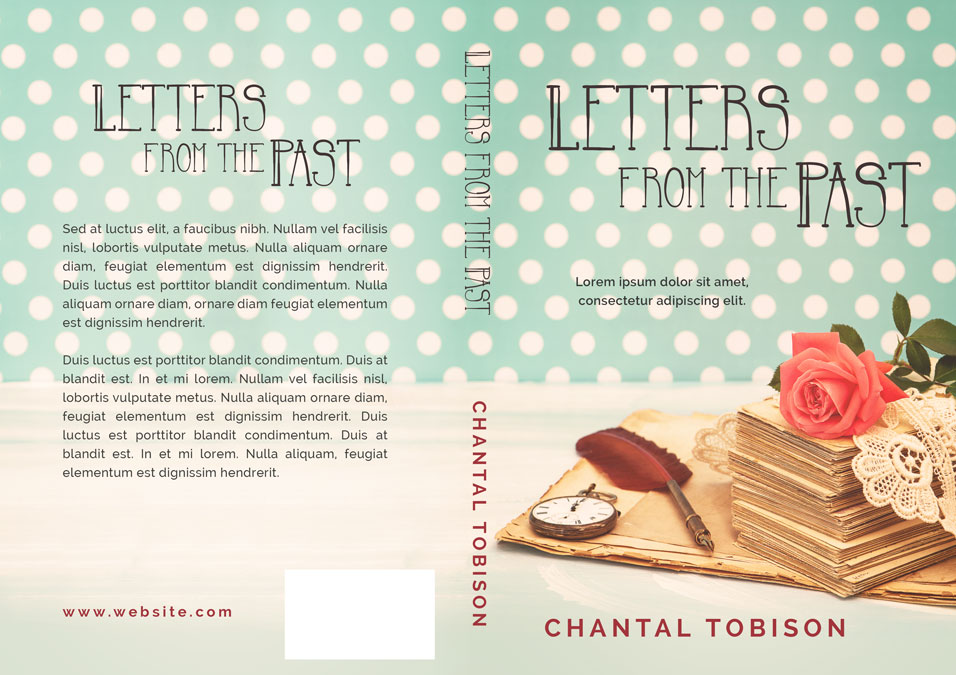 Romance Book Cover Letter : Letters from the past historical romance pre made book