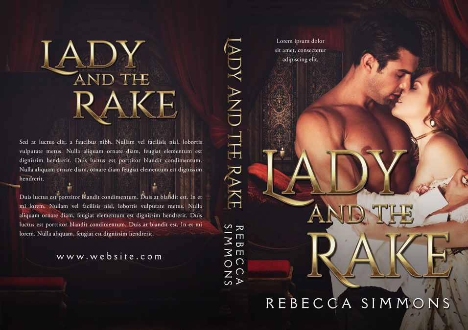 Romance Book Cover Quote ~ Lady and the rake historical romance premade book cover