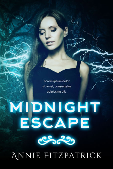 Midnight Escape - Fantasy / Science-fiction Premade Book Cover For Sale @ Beetiful Book Covers