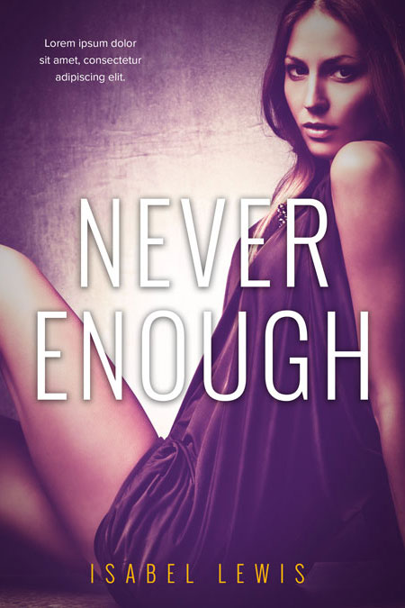 Romance Book Covers For Sale : Never enough romance premade book cover for sale