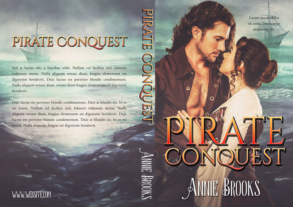 Historical Romance Book Covers ~ Pirate conquest historical romance premade book cover