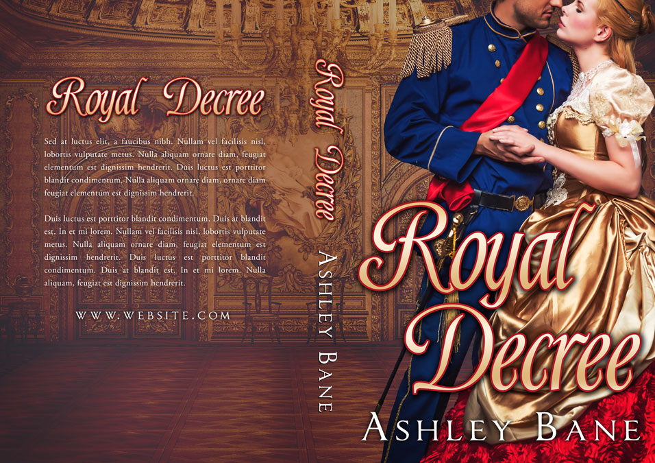 Historical Romance Book Covers ~ Royal decree historical romance premade book cover for