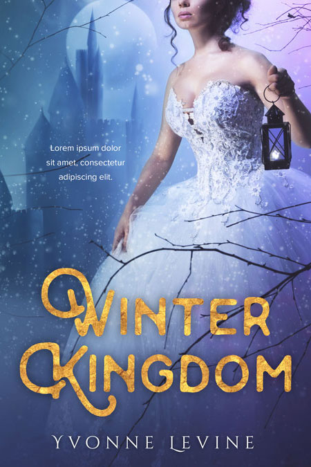 Premade Book Cover Fantasy ~ Winter kingdom fantasy pre made book cover for sale