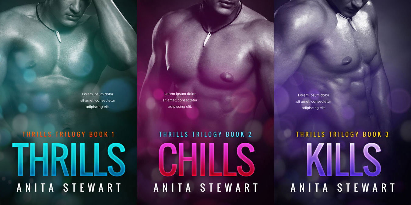 Thrills - Erotic Romantic Suspense Series Premade Book Covers For Sale - Beetiful