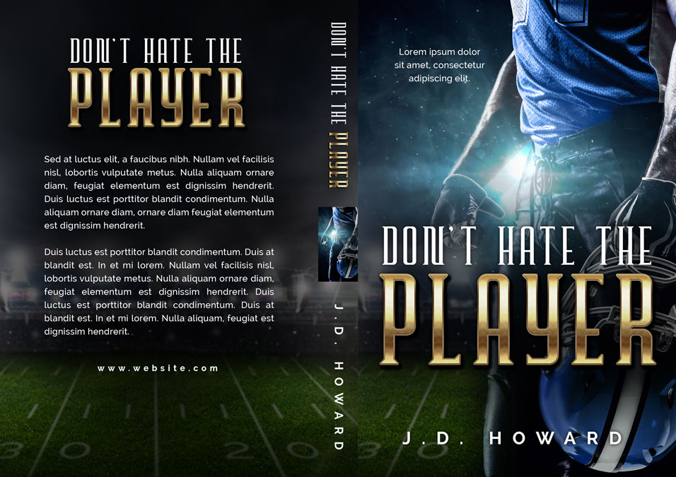 Don't Hate the Player - Sports Premade Book Cover For Sale @ Beetiful Book Covers