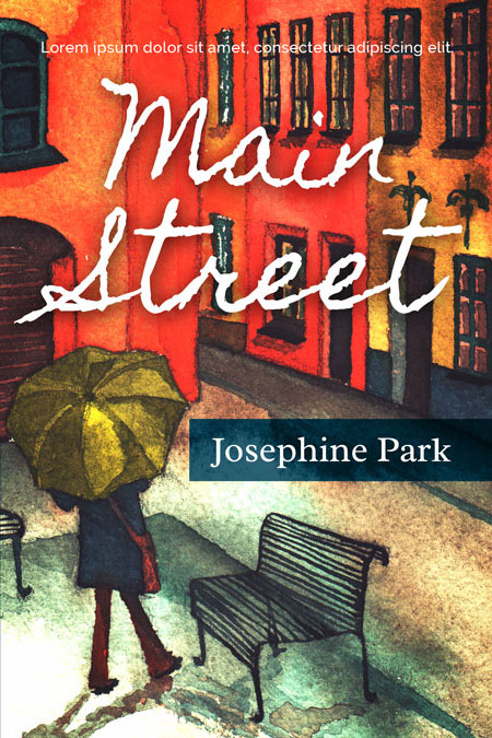 Illustrated Premade Book Covers : Main street fiction premade book cover for sale
