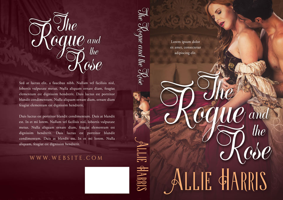 Romance Book Covers For Sale : The rogue and rose historical romance premade book