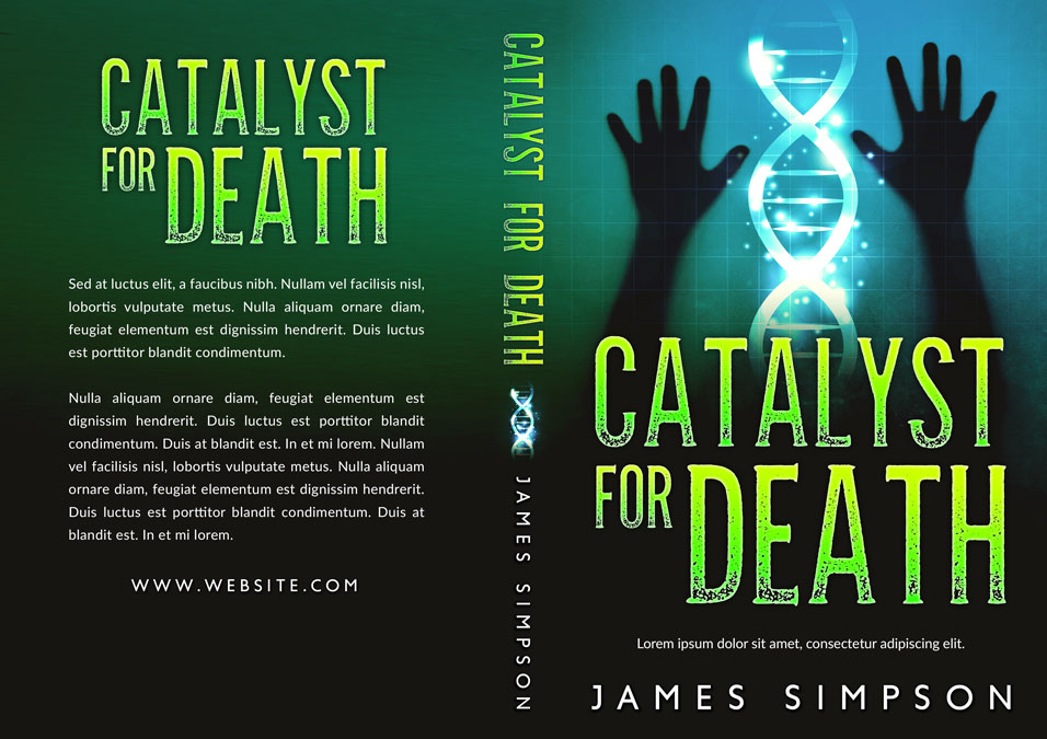 Catalyst For Death - Science-fiction Premade Book Cover For Sale @ Beetiful Book Covers