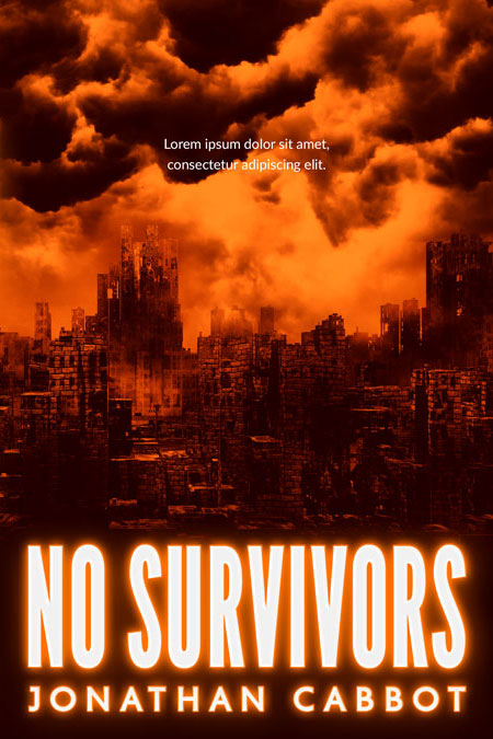 No Survivors - Post-apocalyptic Premade Book Cover For Sale @ Beetiful Book Covers