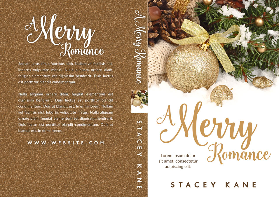 A Merry Romance - Christmas Premade Book Cover For Sale @ Beetiful Book Covers