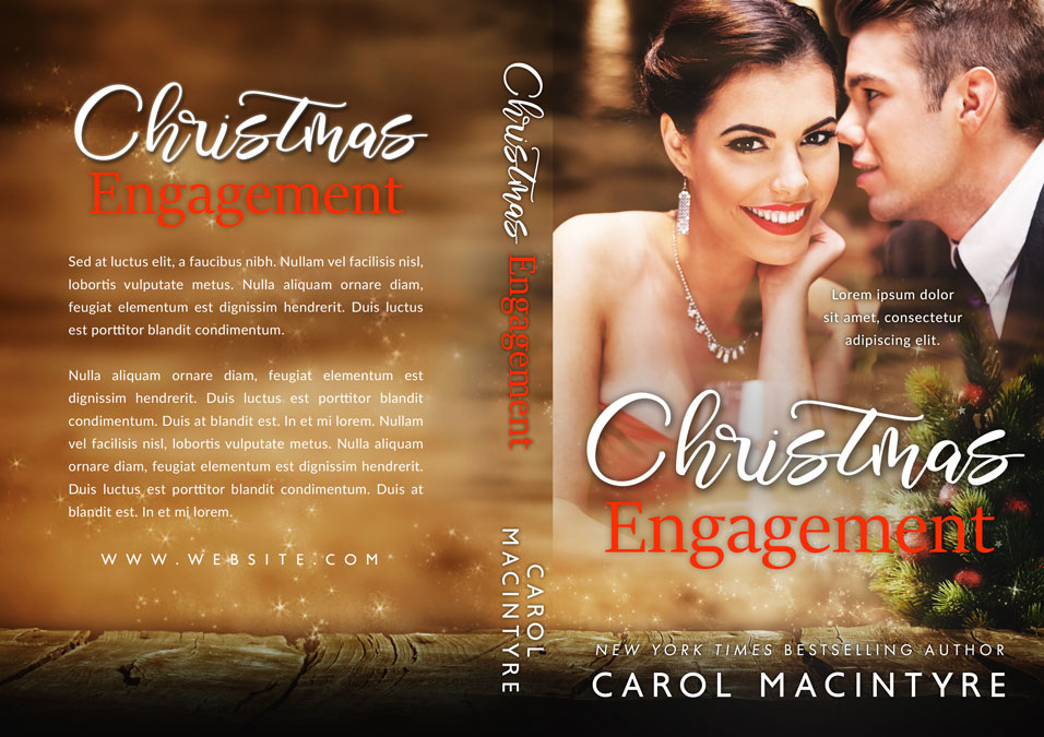 Christmas Engagement - Christmas Romance Premade Book Cover For Sale @ Beetiful Book Covers