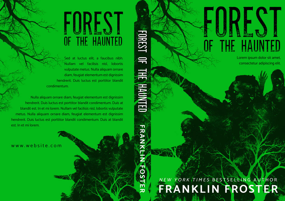 Forest of the Haunted - Horror Premade Book Cover For Sale @ Beetiful Book Covers