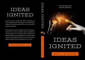 Ideas Ignited - Non-fiction Premade Book Cover For Sale @ Beetiful Book Covers