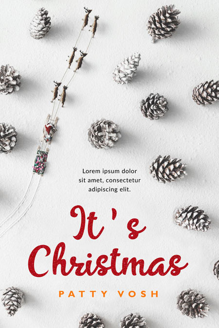 It's Christmas - Christmas Premade Book Cover For Sale @ Beetiful Book Covers