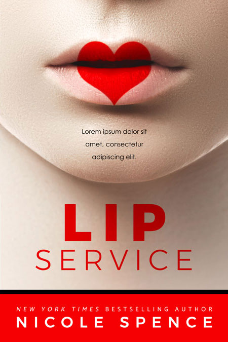 Contemporary Romance Book Covers : Lip service contemporary romance premade book cover for