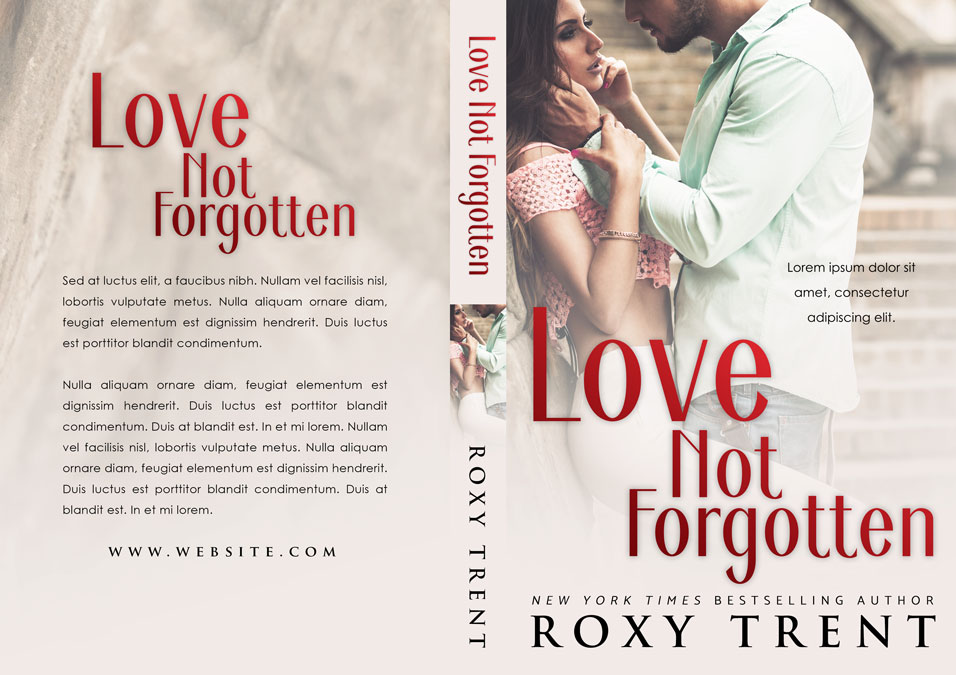 Love Not Forgotten - Romance Premade Book Cover For Sale @ Beetiful Book Covers
