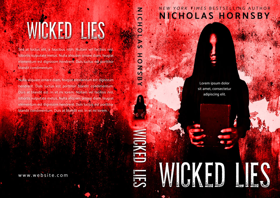 Wicked Lies - Horror Premade Book Cover For Sale @ Beetiful Book Covers