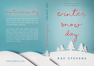 Winter Snow Day - Winter Fiction Premade Book Cover For Sale @ Beetiful Book Covers