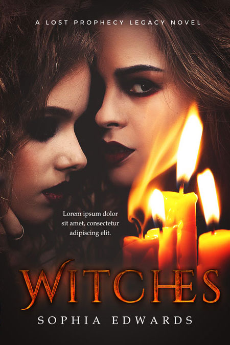 Premade Book Cover Fantasy ~ Witches horror dark fantasy premade book cover for