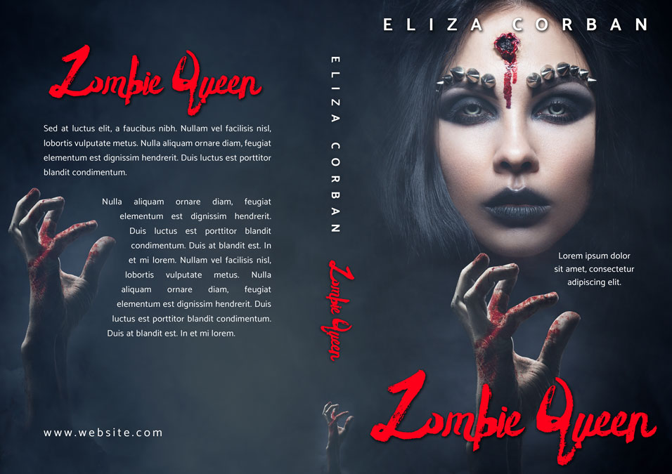 Pretty Book Cover Queen : Zombie queen horror premade book cover for sale