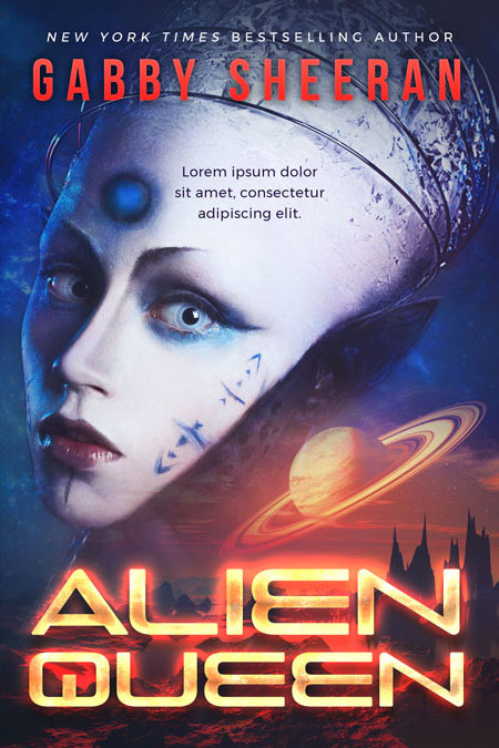 Alien Queen - Science Fiction Premade Book Cover For Sale @ Beetiful Book Covers