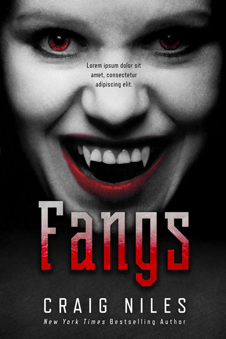 Fangs - Horror / Vampire Premade Book Cover For Sale @ Beetiful Book Covers