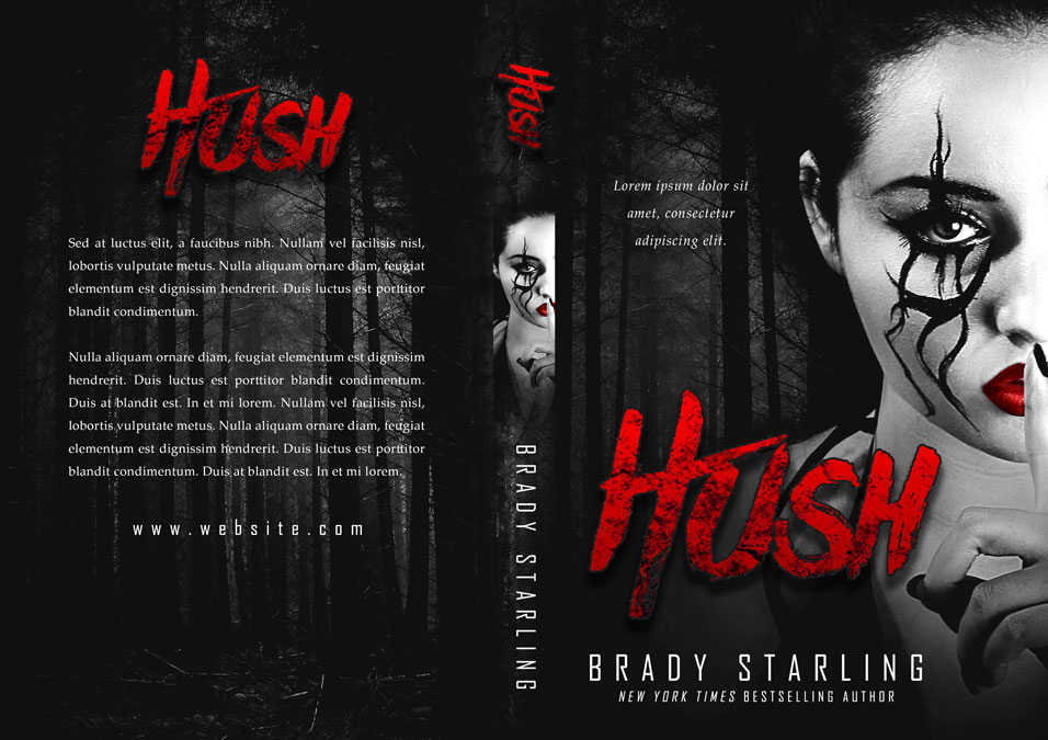 Hush - Horror / Fantasy Premade Book Cover For Sale @ Beetiful Book Covers
